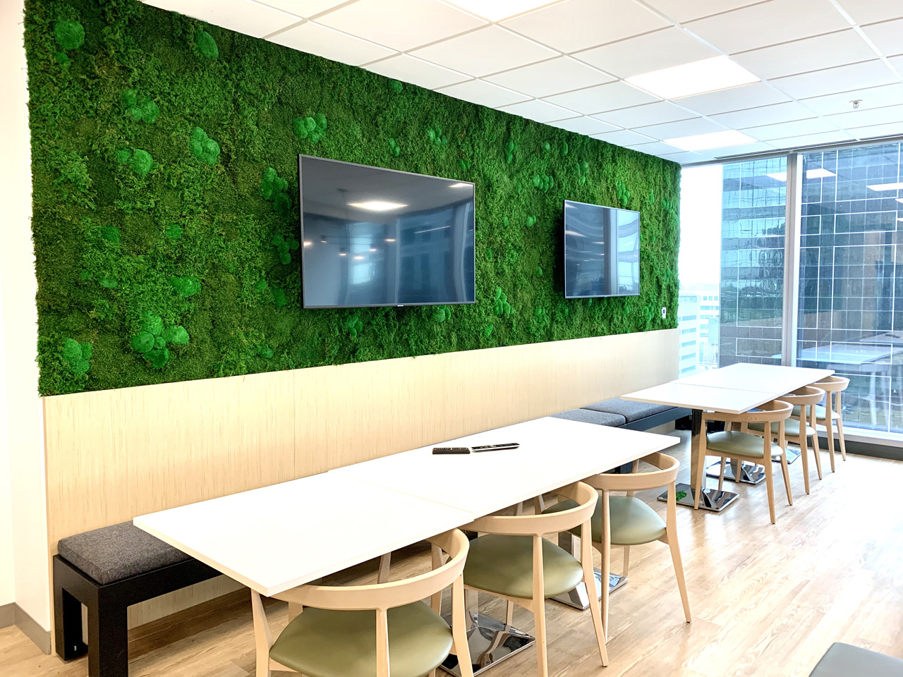 Moss Wall with TVs